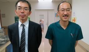 大分県立病院NICUの飯田浩一先生とツーショット