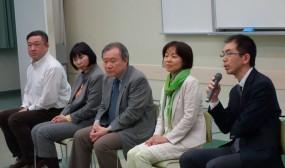 ご講演後の「おっぱいわいわいタイム」ではお母さん達からたくさんの質問が出て盛り上がりました。一番奥はお父さん代表の長島さんです。いつもご参加いただきありがとうございます。