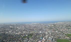 八戸港が見えます。