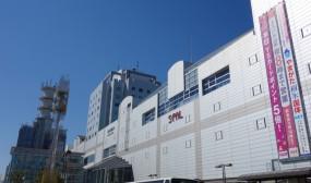 山形駅まで戻って来ました。快晴です!