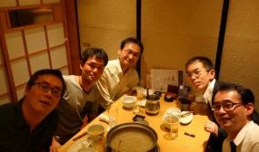 名古屋第一赤十字病院NICUの先生方と一緒に。
