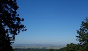 茶屋から望む庄内平野。